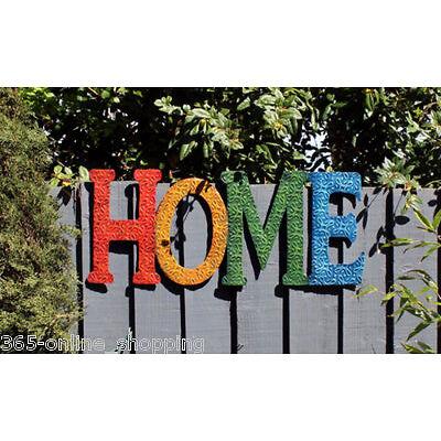 NOVEDAD Moderno Retro Arte Mural Home Signo Hogar o adorno de jardín wecome
