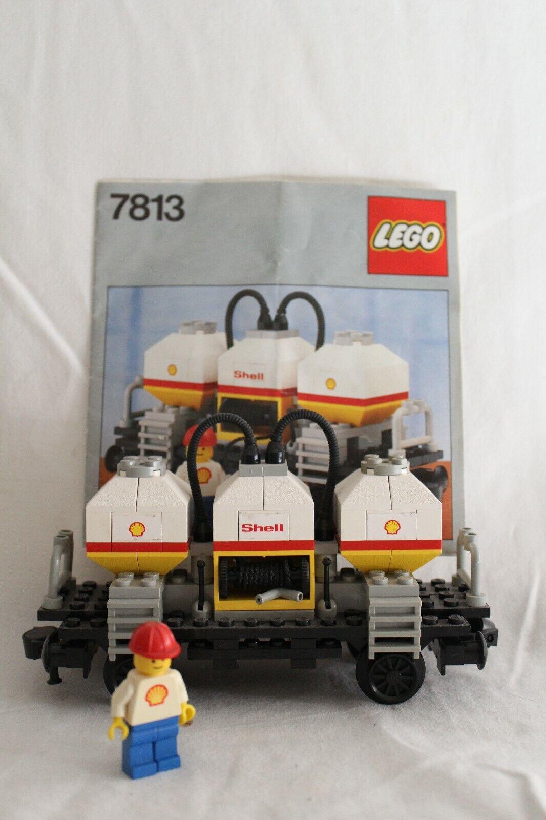 Lego 7813 Shell Tankwaggon 12Volt  4 5 Volt mit BA Eisenbahn 1980