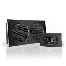 """AIRPLATE T7, Cooling Fan System 12"""" Thermostat Control, Home Theater AV Cabinets"""