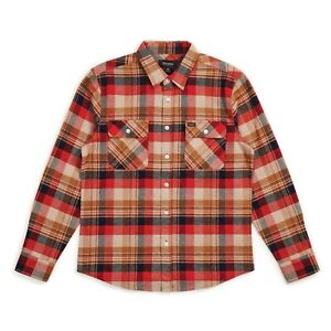 BRIXTON-BOWERY-L-S-FLANNEL-SHIRT-RED-COPPER