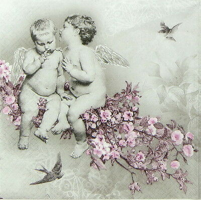 4x Paper Napkins for Decoupage Decopatch Christmas Angel