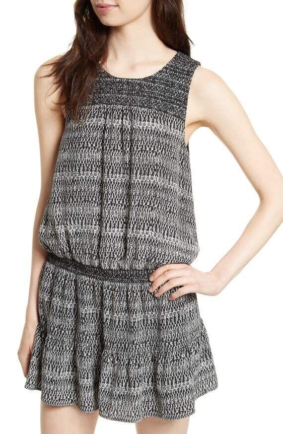New Joie Leilou Silk Blouson Dress Size XS MSRP  298