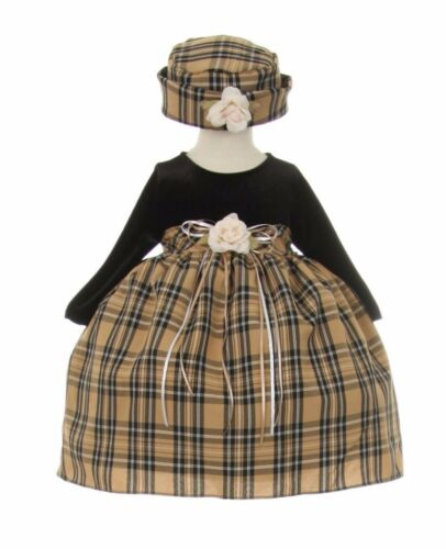 New Girls Checkered Baby Red Dress Wedding Pageant Christmas Birthday Party 611