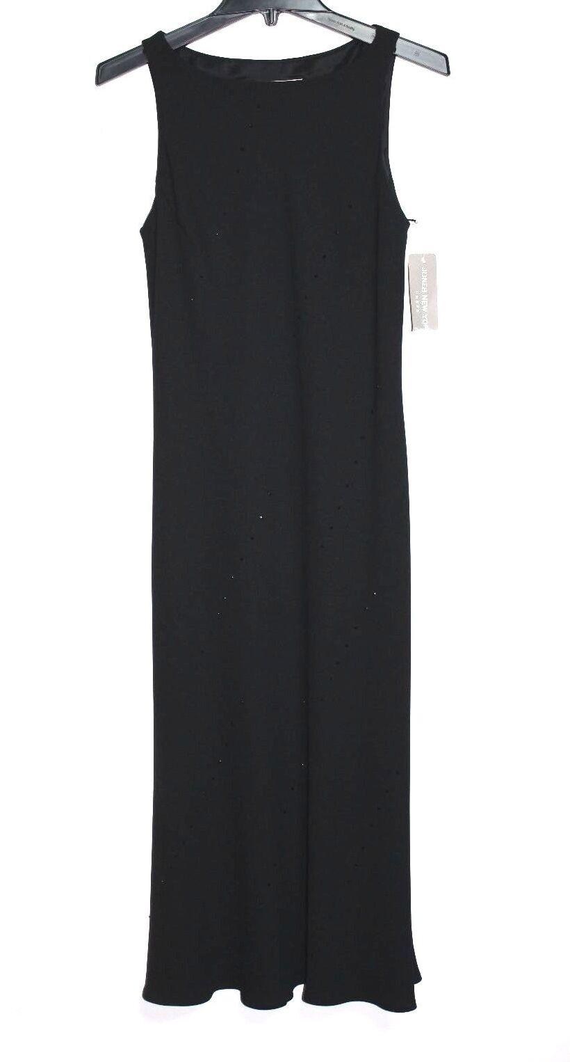 Jones New York - 8 (M) - Nwt Nwt Nwt - Festes Schwarz Sequence Verziert Festliches Kleid 91d3c5