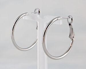 Image Is Loading Stainless Steel Round 2 Mm Hoop Leverback Earrings