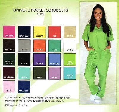Medical Nursing Scrub Set NATURAL UNIFORMS Unisex Top & Pants SET  BP101