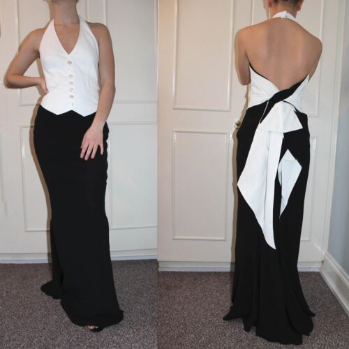 Millen Giarrettiera 36 Uk Halterneck 8 Long Prom Karen Dress Fishtail Maxi Wedding 5dwqnzPF