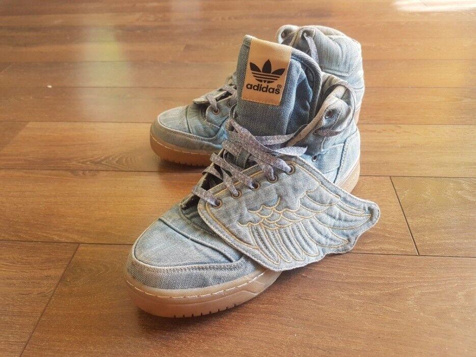 Adidas Originals Turnschuhe Jeremy Scott Scott Scott Wings Denim schuhe JS Blau v24621 Größe 10 890929