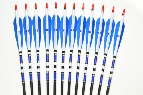 "US 6X 31/"" Real Turkey Feather Carbon Arrows SP500 Archery F Compound/&Recurve Bow"