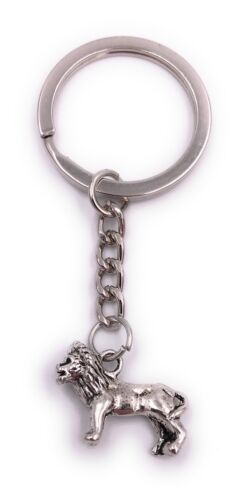 Löwe Lion Schlüsselanhänger Anhänger Silber aus Metall