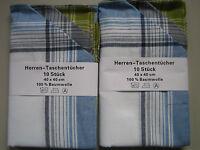 10 Stück  Herrentaschentücher 100% Baumwolle 40x40cm Herren Taschentücher Klassi