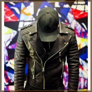 Men-039-s-Leather-Jacket-New-Genuine-Lambskin-Bomber-Biker-Slim-Fit-Cafe-Racer-Coat
