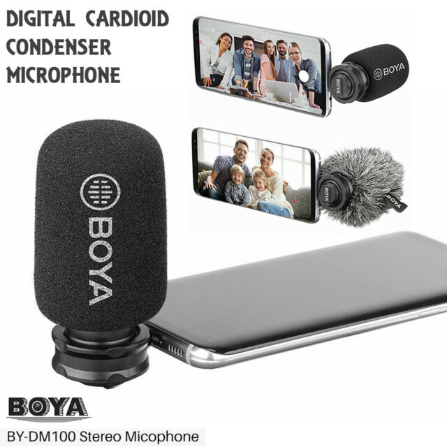 New BOYA BY-DM100 USB Type-C Digital Stereo Microphone for Android Smartphones