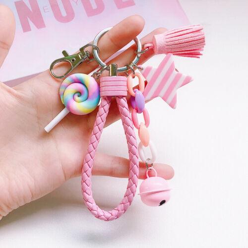 Pendant Keychain Bag Keyring Key Chain Charm Rainbow Handbag Charm Gifts