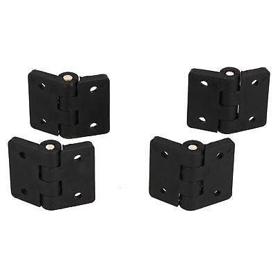 4 Pack Black Polymide Hinge Reinforced Plastic 67x102mm Italian Made Industrial