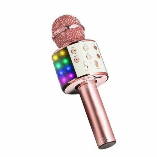 Wireless Bluetooth Karaoke Mikrofon Lautsprecher Handheld Mic KTV Pro Mikrofones