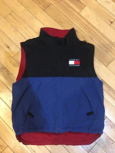 Vintage Tommy Hilfiger Men's XL Vest Spell Out Fla