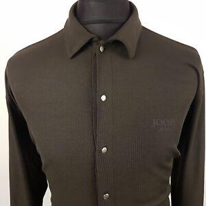 JOOP-Mens-Long-Sleeve-Shirt-Top-Stretch-LARGE-Long-Sleeve-Grey-Regular-Cotton