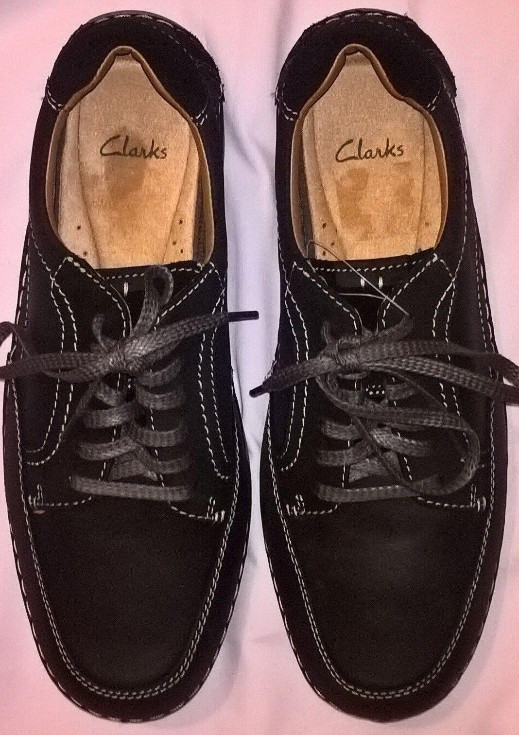 CLARKES ORIGINALE-TG splendida vestibilità e comfort-colore NERO
