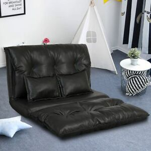 Image Is Loading Pu Leather Foldable Modern Leisure Sofa Bed Video
