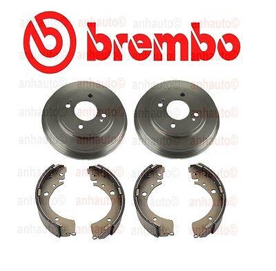 01-05 Civic 1.7L 2 Brake Spring Combi Kit 4Pc Brake Drum /& Brake Shoes