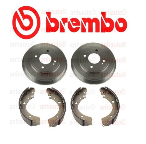 Honda Civic 1.7L 2001-2005 Set of 2 Rear Brake Drums /& Drum Brake Shoes For