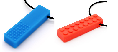 Chew Brick Sensory Chewing Necklace 1 Pack helps biting for Autism Red