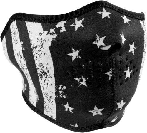 Zan Headgear Black /& White Flag Reversible Cold Weather Neoprene Half Face