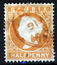 GAMBIA Queen Victoria 1880-81 ½d. Orange Watermark Crown CC Upright SG 10B VFU