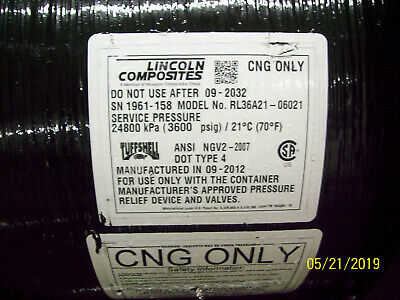 SCI Structural Composite  Industries Type 3 CNG Tank w//mounts 3600psi Exp 2028