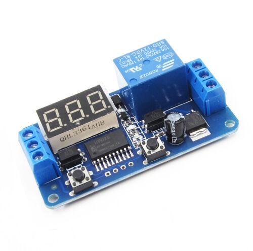 Adjustable Digital Delay Timer Control Schalter Relay Modul DC 12V AHS