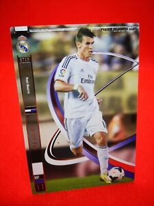 Panini football league 2014 card card soccer star + real madrid #11 gareth bale