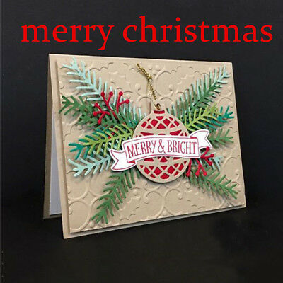 Christmas Tree Metal Cutting Dies Scrapbooking Embossing Folder Photo DIY Crafts
