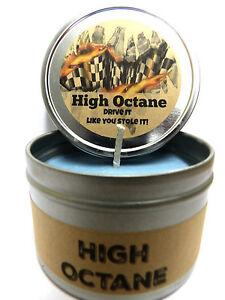 high octane racing fuel great for men 8oz candle tin soy candle 70 hours ebay. Black Bedroom Furniture Sets. Home Design Ideas