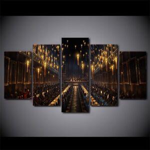 Image Is Loading Harry Potter Hogwarts Great Hall 5 Panel Framed