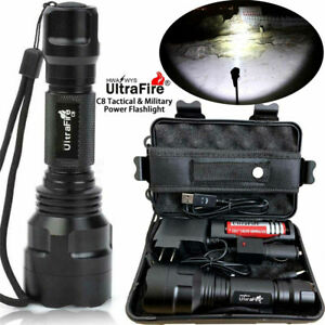 Tactical-Military-150000LM-T6-LED-Flashlight-18650-Torch-Work-Light-Headlamp