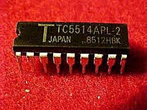 2PCS TC5514P TOSHIBA IC,SRAM,1KX4,CMOS,DIP,18PIN,PLASTIC