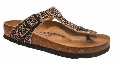 Birkenstock Zehensteg Gizeh leo lilly brown beige 1015640   eBay