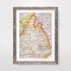 County Tipperary Ireland Map.County Tipperary Ireland Irish Vintage Map Art Print Poster Decor