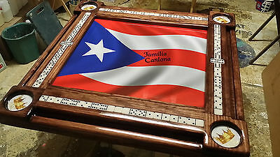 Remarkable Puerto Rican Flag Domino Table With Custom Cup Holders By Domino Tables By Art Ebay Home Interior And Landscaping Ologienasavecom