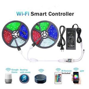 10M-5M-LED-Strip-Light-RGB-tape-lamp-Waterproof-Alexa-Google-Smart-WIFI-Full-Kit