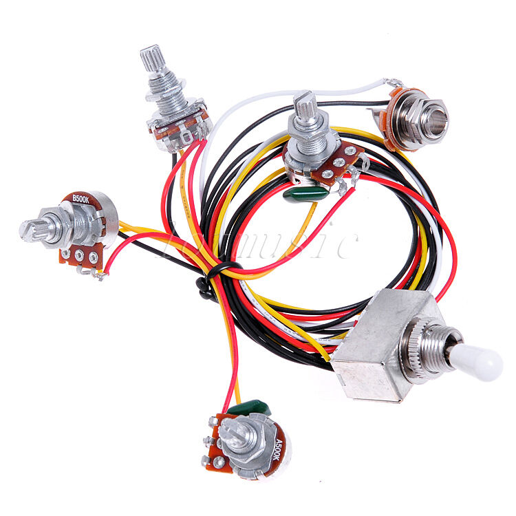 Wiring harness prewired v t way toggle switch jack k
