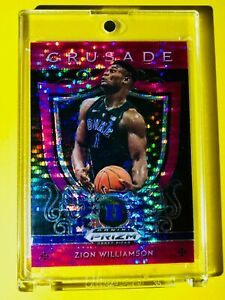 Zion-Williamson-ATOMIC-PINK-PULSAR-REFRACTOR-ROOKIE-PANINI-PRIZM-CRUSADE-RC-Mint