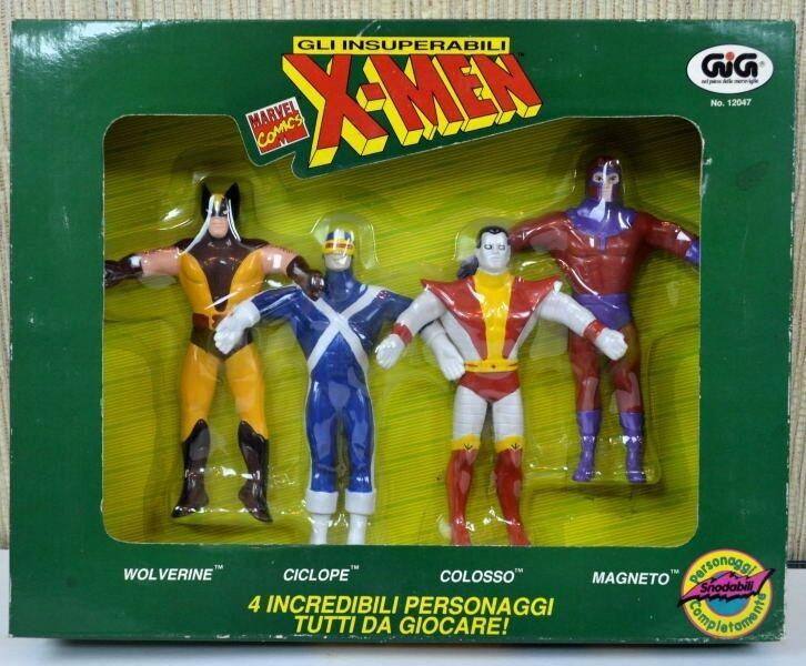 X-men Bendies Set Completo 6 Marvel Gig Italia sólo Moc Mib 1991 Raro Box Set 4