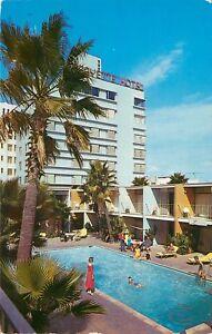 Vintage Postcard Lafayette Hotel Long Beach Ca Lanai Suites Palms
