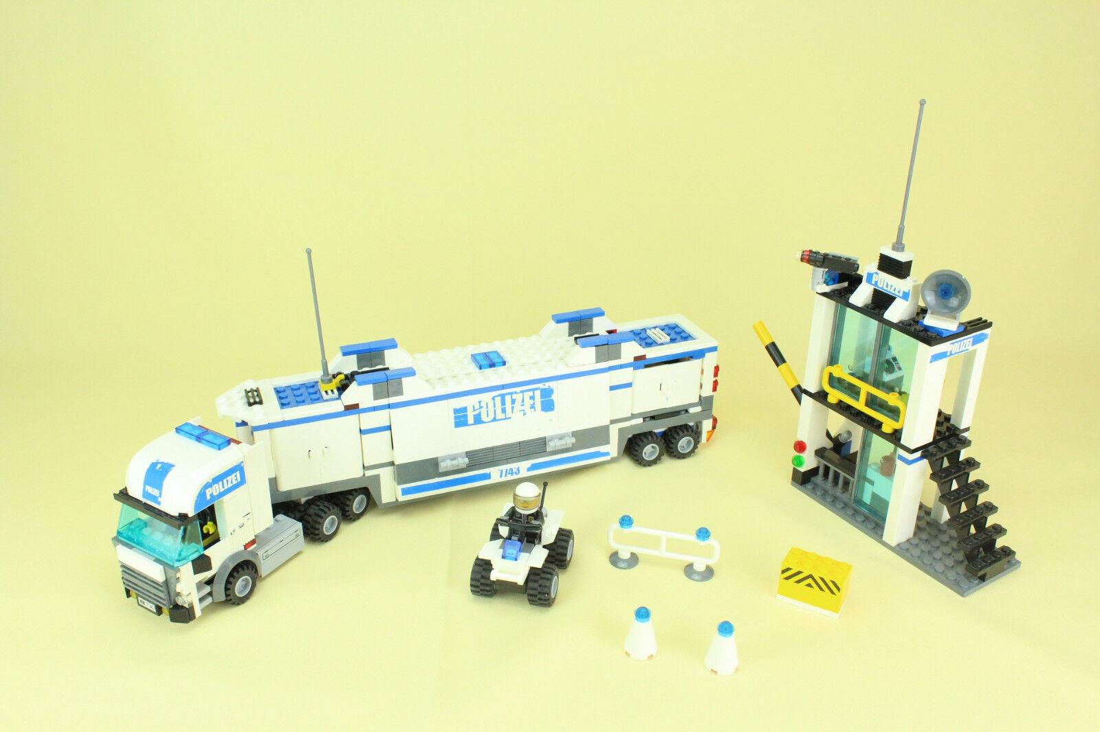 LEGO® 7743 CITY POLICE - Command Center - Polizei Überwachung - mit OVP