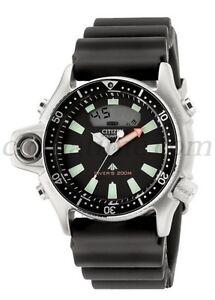 Citizen-Promaster-Aqualand-Depth-Meter-Sub-JP2000-08E-Mares-Diver-039-s-20-bar-Men