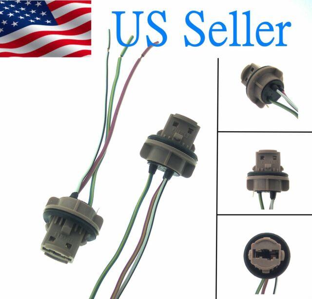 7443 Bulb Socket Brake Turn Signal Light Harness Wire LED Pig Tail Plug 7440 T20