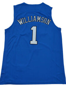 detailed look 8c6f9 8b99d Details about Zion Williamson Jersey 1# Duke Blue Devils Stitched College  Basketball Jersey