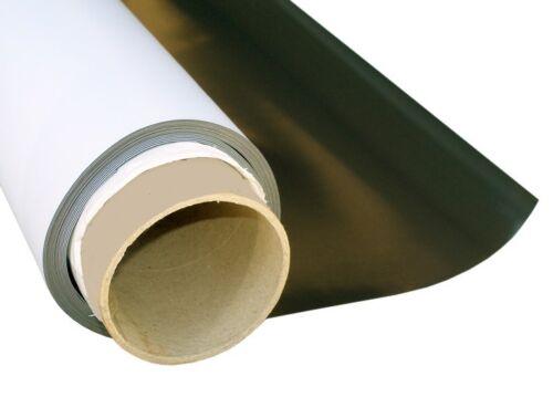 Meterware Magnetfolie weiß matt beschichtet 1,1mm x  62cm x 100cm